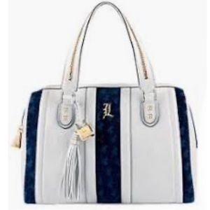 L.A.M.B. Large White Leather Tote